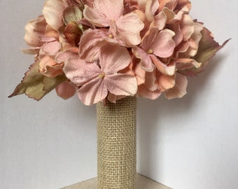 Pink Hydrangea Vase Arrangement