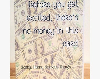 Sorry There's No Money In This Card