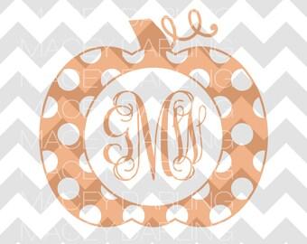 Polka Dot Pumpkin, Polka Dot Pumpkin SVG, Fall SVG, Halloween SVG, Instant Download, svg, dxf
