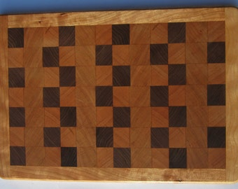 Cherry and Walnut End Grain Cutting Board