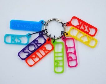Large pattern reminder stitch markers - Bright