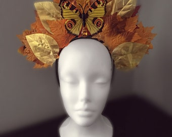 Autumn Fall Fairy Forest Butterfly Crown Headpiece