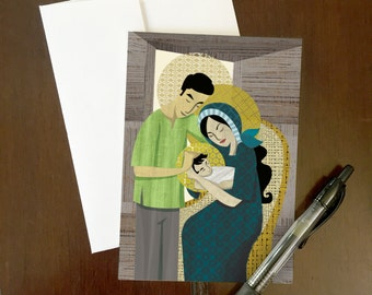 Pilipino Holy Family | Greeting Card | Pasko | Night time | Philippines