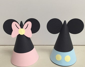 Baby Mickey & Minnie Mouse Party Hats (12)