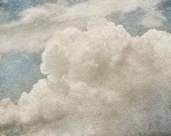 Clouds Wall Art Print from an original photograph by Corinne Dany / Clouds / Gift / Art Print / photography