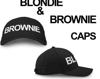 2 Caps, Blondie Brownie Hat, Snapback, Pair, Fashion Printed Caps, Hats, Blondie Cap, Brownie Cap, Blondie Brownie caps