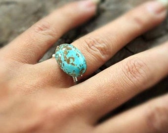 Turquoise Sterling Silver Handmade Ring