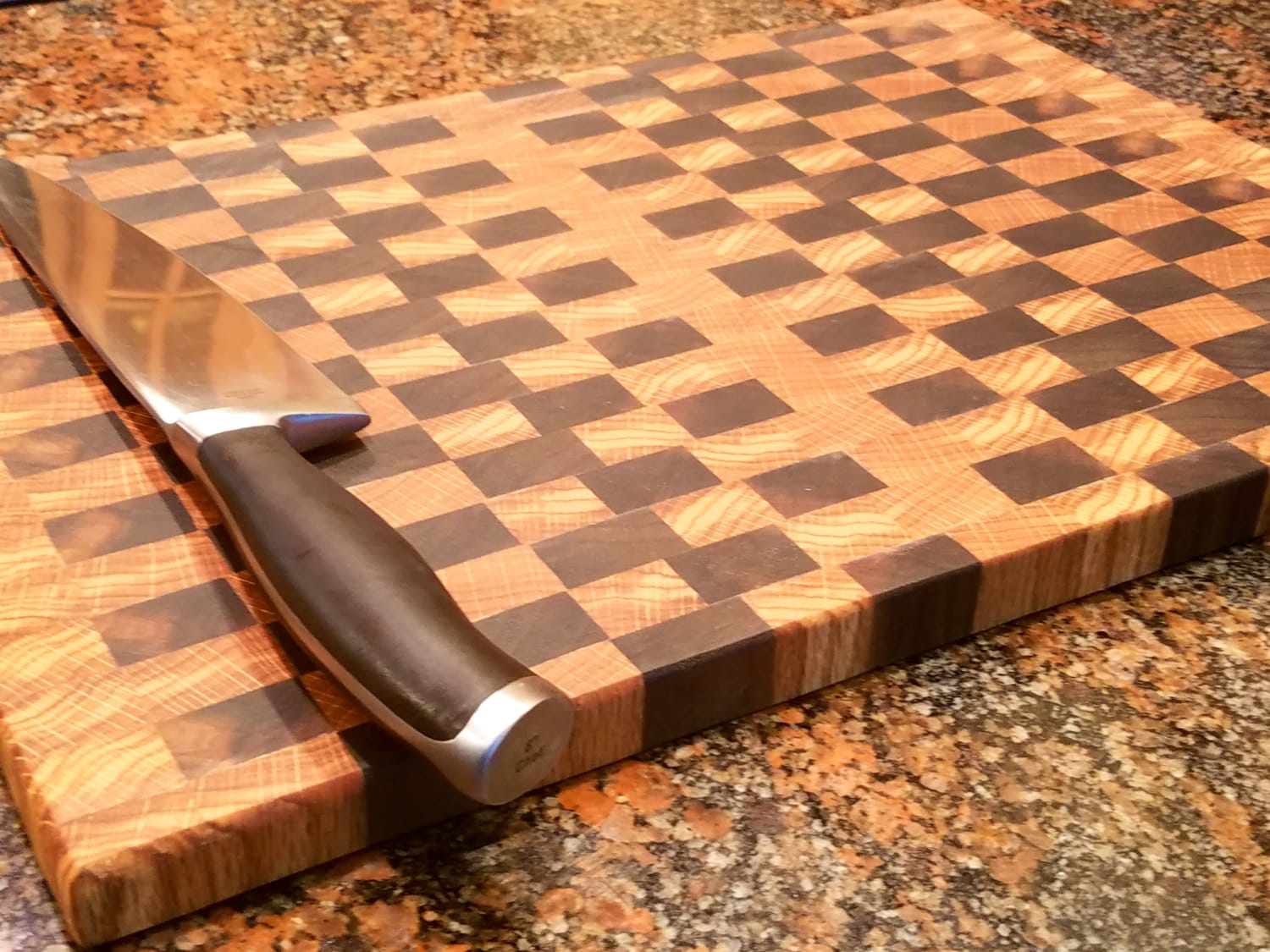 Endgrain Cuttingboard Checkerboard Pattern By