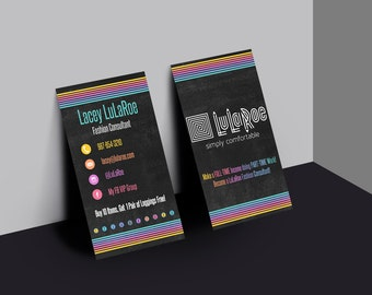 LuLaRoe Business Card-Home Office Colors and Fonts - Vertical