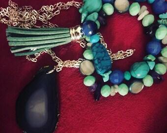Shiny Blue Stone Bracelet