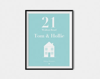 New Home | Personalised Print | Ideal Gift