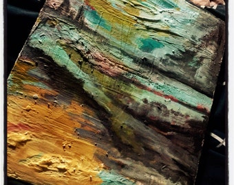 End of world landscape abstract painting