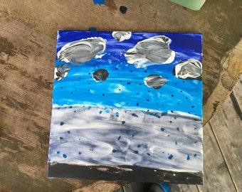 Stormy Night 4X4 Ceramic Tile