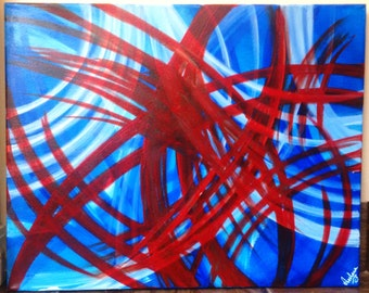 Lovable Lines Abstract - Canvass