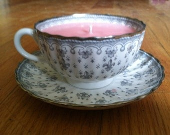 Spode Bone China Tea Cup Soy Candle - Very Vanilla Scented