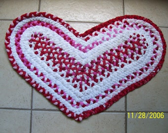Red Heart Shaped Rug