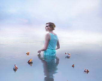 """18x18 """"Renewal"""" Meghan Walker Photography Ethereal Dreamy Limited Edition Luster Print."""