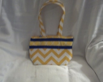 Handmade Yellow Chevron Purse