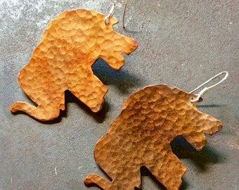 Hammered Copper Elephants