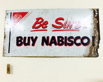 Vintage Nabisco metal sign