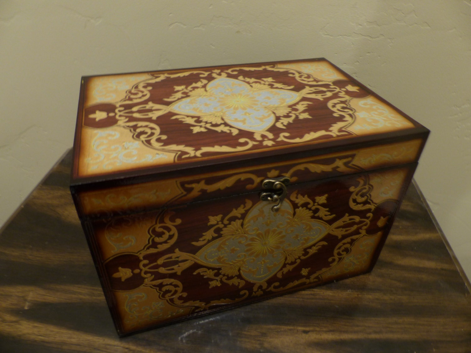 home decor large storage box steampunk chest with latch