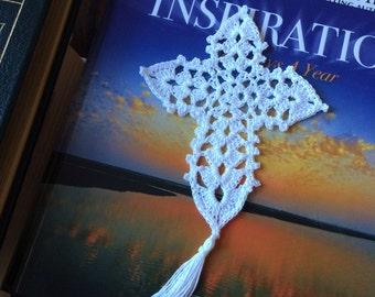 Crochet bookmark; Cross Bookmark; Gothic Cross Bookmark; Christian Bookmark