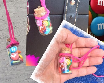M&M'S IN A BOTTLE NECKLACE
