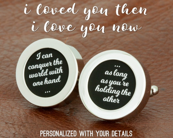 Cotton Wedding Anniversary Gifts For Her: Cotton Anniversary Gift For Her Cuff Links Silver Anniversary