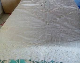 handmade linen tablecloth