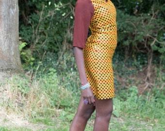 African print dress, short African print dress, short dress, short Ankara dress, Casual dress