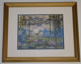 Monet Water Lilies print, gilded frame