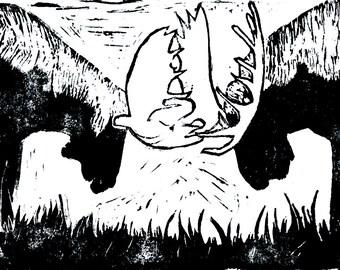 Dueling Moose Digital Download