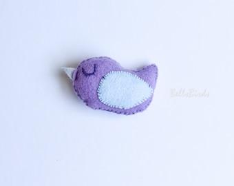 Felt Bird - purple and light blue