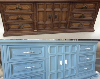 9 Drawer Solid Wood Dresser