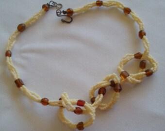 Three Strand Czech Bead Necklace