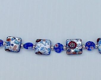 Dichotic Glass beaded bracelet.