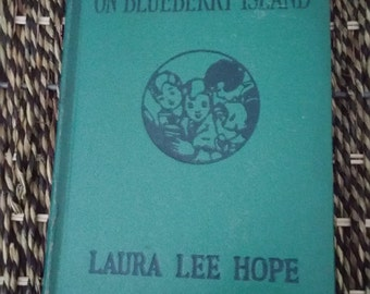 Vintage Book - The Bobbsey Twins on Blueberry Island by Laura Lee Hope 1917