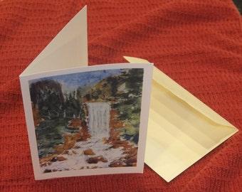 Vernal Falls (LAH #086, Greeting Card)