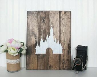 Disney Inspired Sleeping Beauty's Castle Wooden Wall Decor
