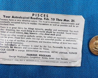 Pisces Zodiac Vintage Good Luck Collectable Coins/Tokens (Not US Currency)