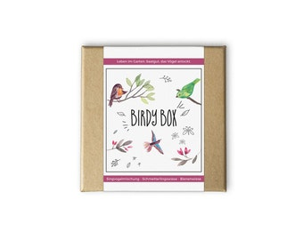 Birdy box – also as a personal gift idea - seeds and seeds for the garden