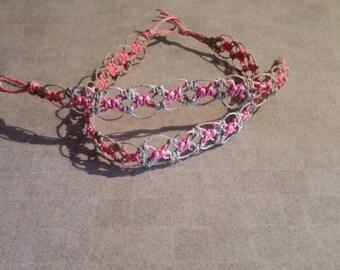 Hemp Necklace/Choker with matching Bracelet