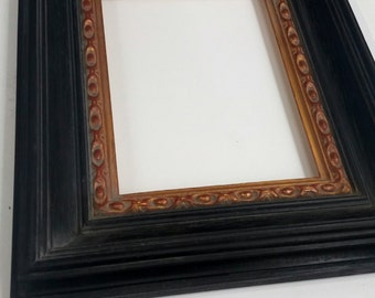 "Antique-Style Black & Gold 8"" x 6"" Frame"