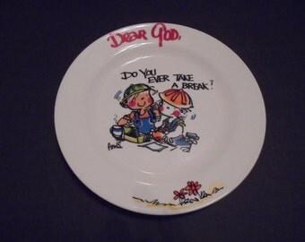 Dear God Plate