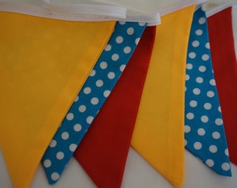 Red - blue - yellow bunting
