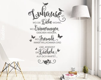 Wall sticker quote is home where love lives...  Family quote wall sticker decoration mural wall decoration sticker decal ws10a