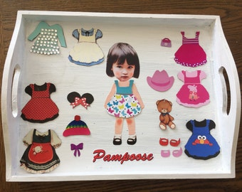 Personalized Magnetic Paper Dolls (Handmade)