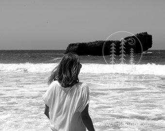 Dark Waves, Black And White Photography - Wallpaper,Wall Art - Print Photo,Fine Art Print,Postcard,Poster,Image,DIN A4 - nature travel ocean
