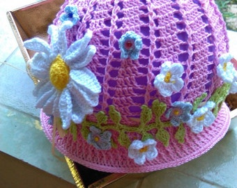 Summer hat for girls up to 7 years