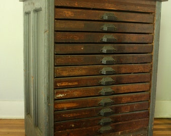 Hamilton Letterpress Cabinet from early 20th Century